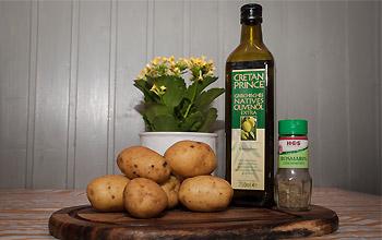 Zutaten für Ofenkartoffeln